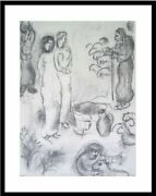 The Two Daughters Of Laban By Marc Chagall Framed Fine Modern Art