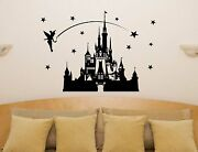 Disney Castle Fairytale Princess Tinkerbell Stars Wall Art Decal Sticker Picture