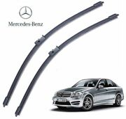 Mercedes C Class W204 2008- Set 24+24 Made In Germany Front Wiper Blade