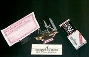 Schrade 707 Gambler Knife Uncle Henry W/scissors And Packaging,loss Certificate