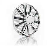 C3 Corvette 1968-1982 Be Cool Chrome / Electric Puller Cooling 16-inch Fan