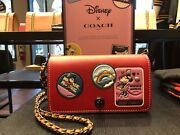 2017 Disney X Coach 1941 Dinky With Minnie Mouse Patches Limite Edition
