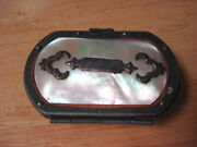 Victorian Souvenir Coin Purse Abalone Shell With Interior Compartments