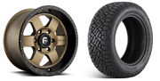 18 Fuel D617 Podium Bronze Wheels At Tires Package 6x5.5 6x139.7 Chevy Gmc