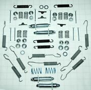 1953-62 Corvette Front And Rear Brake Hardware Kit W/adjusters-does All 4 Wheels