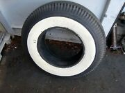 Deluxe Champion Firestone Tire Wide Whitewall 8.20-15 Gum Dipped - Original