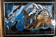 One Of A Kind Exquisite Hand-crafted Mermaid Stained Glass Panel