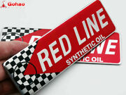 Red Line Synthetic Oil Car Racing Badges Emblem Decal Stickers Universal New