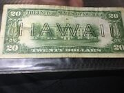 Wwii 1934 A 20 Dollar Bill Hawaii Brown Seal Federal Note Currency L