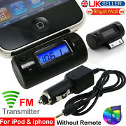 New Car Wireless Fm Radio Transmitter Modulator For Iphone 3gs 4s 4 Ipod Touch