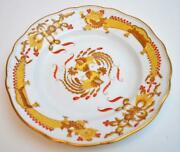 Antique Meissen Crossed Swords Mark Yellow Dragon Red Dots 9 3/4 Dinner Plate