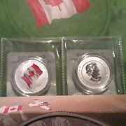Canadian Flag 50th Anniversary 2015 25 Pure Silver Coin Canada