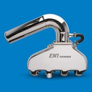 Emi Thunder Exhaust System Bb Chevy +3 Taller Risers Polished Pair Emi-552p