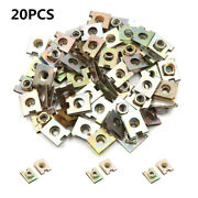 20x 6mm/m6 Universal Spring U-type Clips Speed Nut For Car Panel Fender Defense