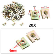 20pc Metal Spring U-type Plate Nut Speed Clips Copper Tone For Car Panel Defense