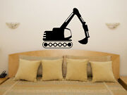 Jcb Digger Truck Childrenand039s Bedroom Boys Room Decal Wall Art Sticker Picture