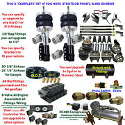 Air Suspension Kit-complete Struts Front And Leafs Rear Air Ride