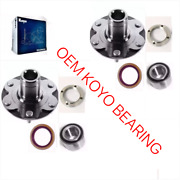 Front Wheel Hub And Koyo Bearing Andseal For Toyota Tundra 2001-2006 2wd Only Pair