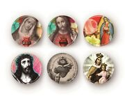 Set Of 6 Religious Jesus Mary Magnets/mirrors/buttons/bottle Openers You Choose
