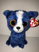 Ty T-bone Blue Dog Beanie Boos New Mint Tag Retired-htf-soft-loves To Play