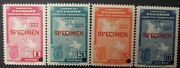 O 1946 Ecuador, Specimen-punch, Map Of Panamerican Highway And Arms Of Loja-sco