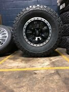17 Fuel Tactic D629 Black Wheels 35 Tires Package Toyota Tacoma 6x5.5 Chevy Gm