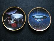 Star Trek Ncc-1701 And Ncc-1701-d Collector Plate Set