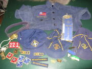 Large Lot Of Vintage Cub Scout Items Shirt Hats Belt Patches Etc. Boy Scouts
