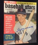 Dell Sports Baseball Stars 3 1958-ted Williams Signed Magazine Boston Red Sox