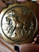 1979 Giovanni Schoeman Cast Bronze Wild Horses Paperweight Signed Vintage