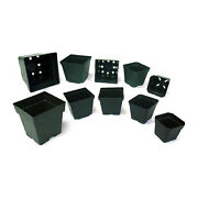 200 Pack Various Sizes Square Green Injection Molded Pots Vegetables Flowers +