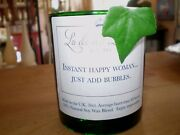 Recycled Wine Bottlefriend Candleinstant Happy Womanjust Add Bubbles