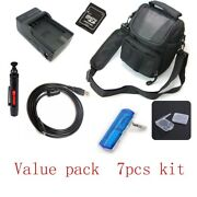 Usb Cable+camera Bag+battery Charger+card Reader+for Nikon Coolpix S9050 Gm