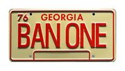 Smokey And The Bandit   1977 Trans Am   Ban One   Stamped Prop License Plate