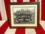 Vintage Antique Soccer/football Team Photograph Early 1900and039s Framed 8x10 Yonkers