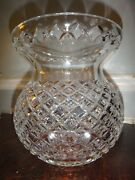 """Large Waterford Cut Crystal Corset Flower Vase Master Cutter 9"""" Bulb Pineapple"""