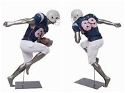 Adult Male Athletic Muscular Fiberglass Running Back Football Player Mannequin