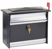 Mailbox Locking Mail Security Mount Black Wall Box Post Large Aluminum Secure