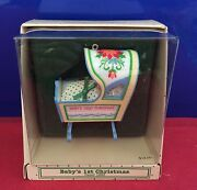 Hallmark Ornament Babyand039s First Christmas Dated 1983 New Bfc