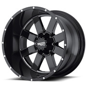 18x9 Moto Metal Black Mo962 Wheel And Tire Package 305/60r18 Mt 6x5.5 Chevy Gmc