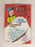 1950's Pack/box Hobby Trading Cards 30 Cards 4 Different Types Ships, Planes +