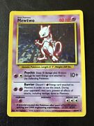 Incredibly Rare Pokemon Mewtwo Foil Holographic Base Set Shadowed 10/102 Hp