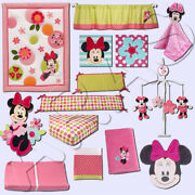 Minnie Mouse's Petal Perfect 13pc Crib Bedding Set By Disney Baby Discontinued