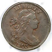 1803 S-258 Pcgs Xf 45 Sm Date Lg Frac Draped Bust Large Cent Coin 1c