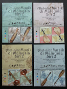Free Ship Malaysia Musical Instruments Ii 2018 Costumes Stamp 2v Title Mnh