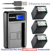 Kastar Battery Lcd Charger For Sony Np-fh100 And Sony Dcr-sx40 Dcr-sx41 Dcr-sx50