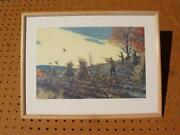 A. Lassell Ripley On The Wing Framed Print Grouse Hunting Dogs Matted Good Cond