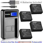 Kastar Battery Lcd Usb Charger For Panasonic Dmw-ble9 Dmw-blg10 And Lumix Dmc-gf5