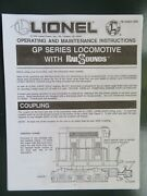 Lionel - Operating Instructions - Gp Series Locomotives With Rail Sounds Photo