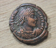 Nm Valentinian I 364-375 Ad Only 2 Known Examples Ae3 Restitv-tor Reip High Gr